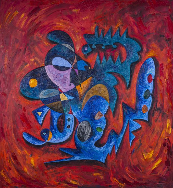 Yasser Arafat abstract painting