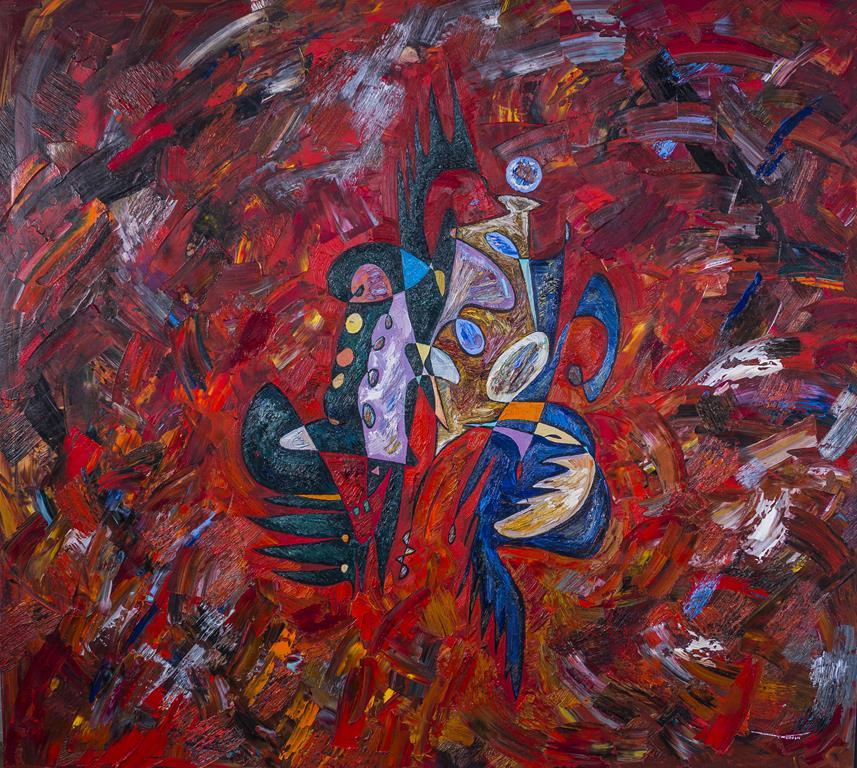 Lascivious Pope Benedict XVI Painting