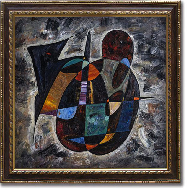 Nostradamus abstract painting Gheorghe Virtosu