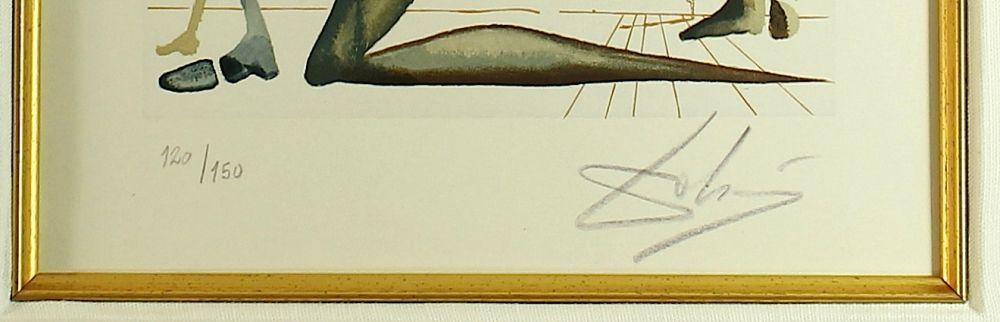 Salvador Dali Signed 16x19