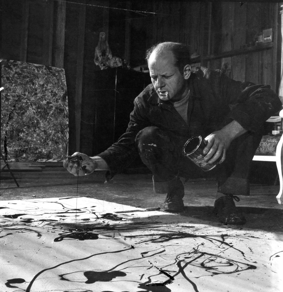 Jackson Pollock modern abstract wall art