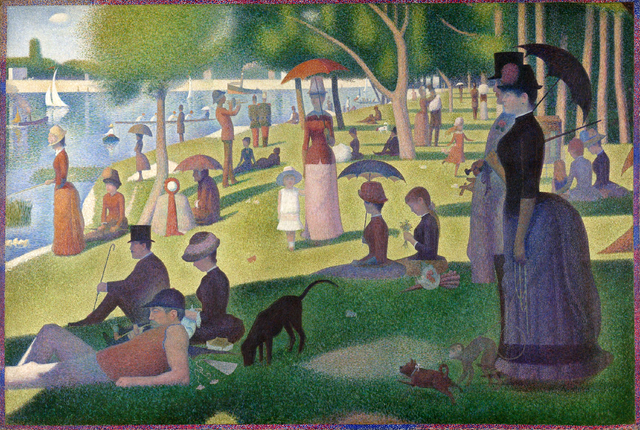 painter Georges Seurat la Grande Jatte