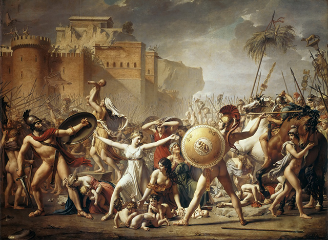 The Intervention of the Sabine Women, 1799 by Jacques-Louis David