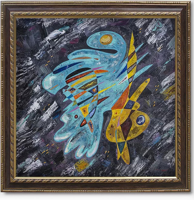 Quasimodo in Love abstract painting