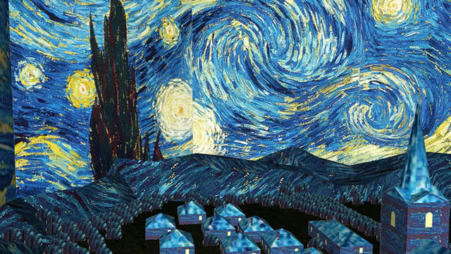The Starry Night , abstract painting