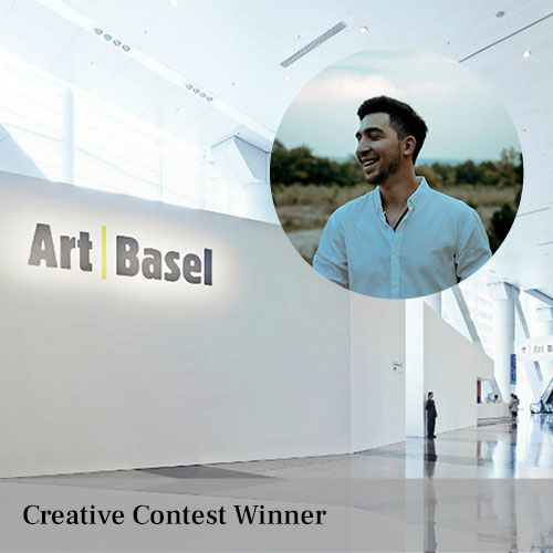Iancu Voinovan the winner of the cultural trip to Art Basel