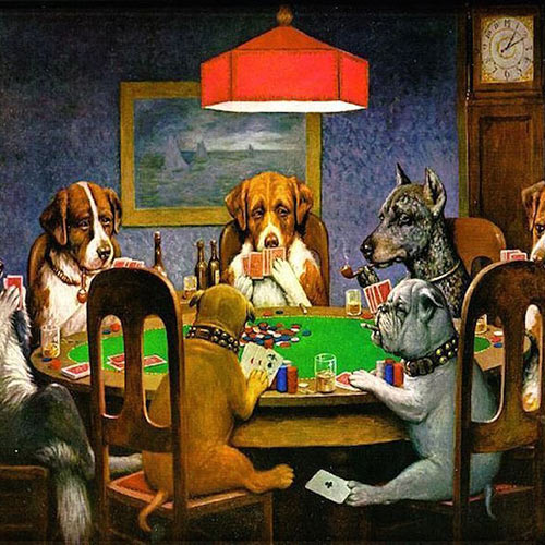 """Cassius Marcellus Coolidge and the Story Behind """"Dogs Playing Poker"""""""