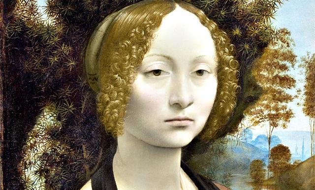 Ginevra de' Benci, Leonardo da Vinci, ca. 1474/1478.