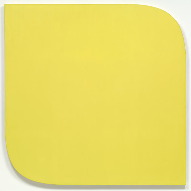 Ellsworth Kelly -Yellow Piece, 1966, Synthetic polymer paint on canvas