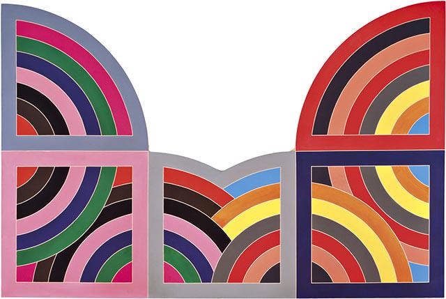 Frank Stella -Harran II, 1967, polymer and fluorescent polymer paint on canvas