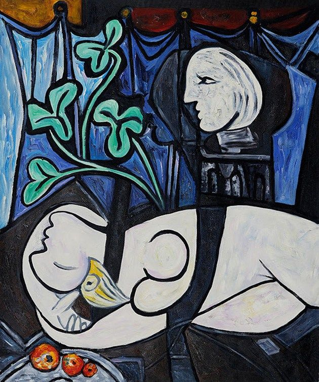 Nude, Green Leaves and Bust (1932) Pablo Picasso paintings best abstract artists Abstract Art Artists modern art