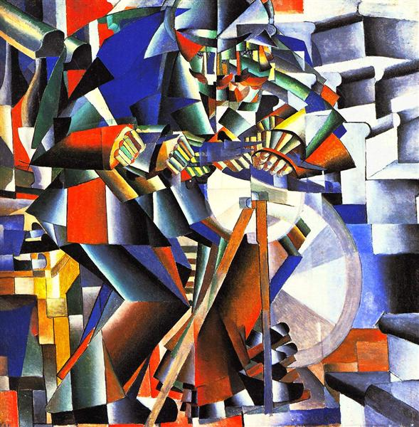 The knifegrinder, 1912 - Kazimir Malevich