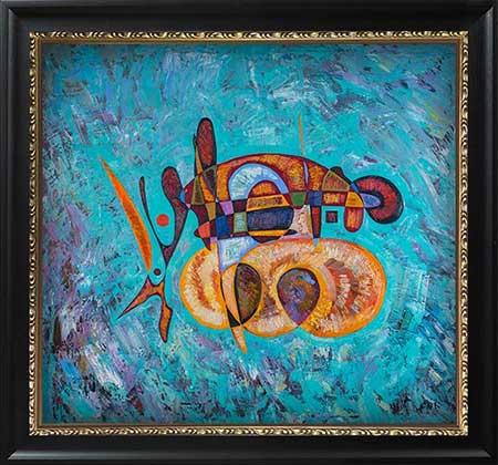 Da Vinci abstract art paintings