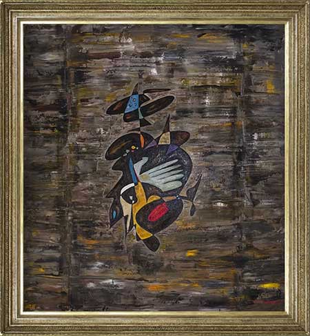 Joan of Arc abstract art paintings