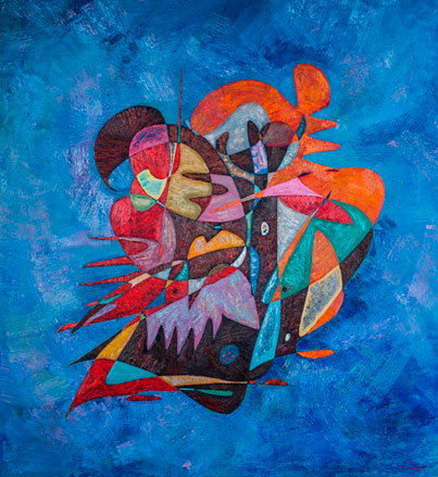 THE CENTURY OF DUCK abstract art Gheorghe Virtosu