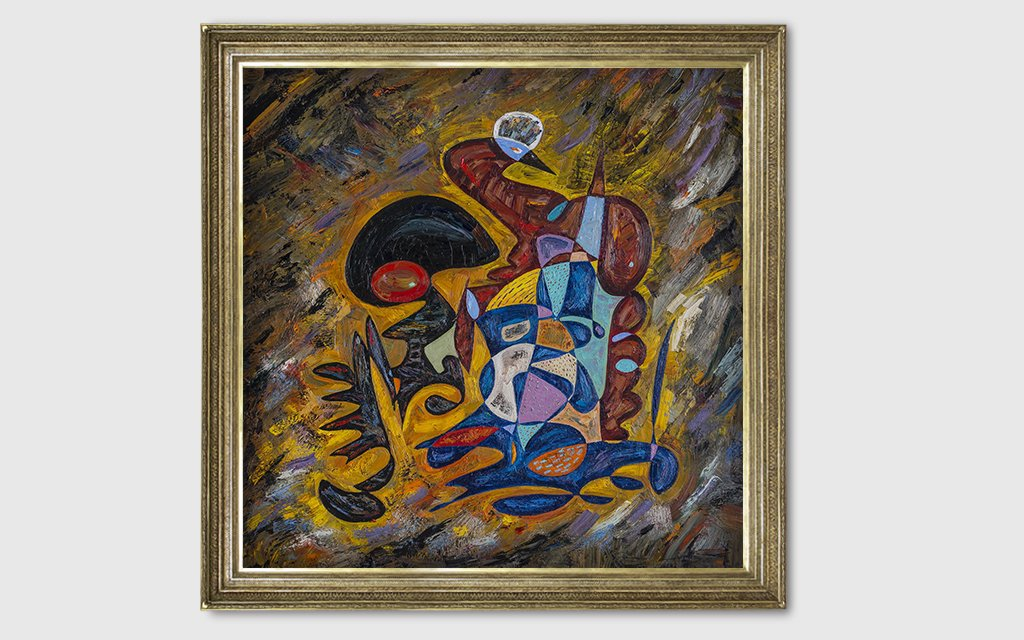 Clairvoyant of world war IIIoil painting criticism