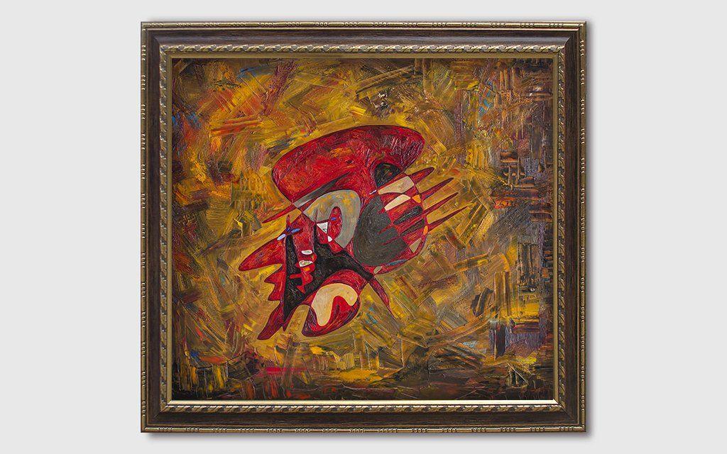 Albert Einstein painting critic by Gheorghe Virtosu